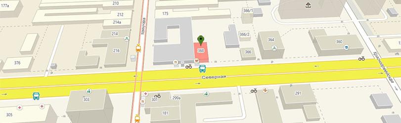 Маршрут на улице Северная до офиса сервиса IT LAB